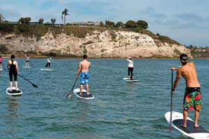 paddleboarding huntington beach